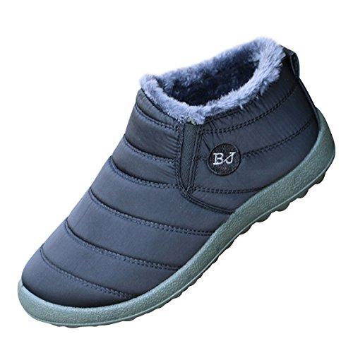 Dear Time Women Winter Snow Ankle Boots Fur Lining Waterproof Outdoor Slip On Booties Sneakers US 5.5