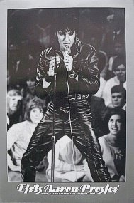 Elvis Presley Leather Jacket Crowd Music 24x36 Poster Art Print
