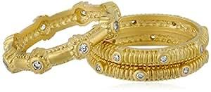 "Freida Rothman ""SOHO"" Stack of 3 14k Gold Vermeil Texture Ring, Size 6"