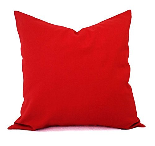 Bright Red Throw Pillow Cover in Custom Sizes - Solid Decorative Pillow Sham - Crimson Red Pillow Cover - Lumbar Pillow Euro Sham