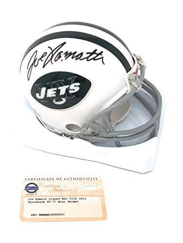 Joe Namath New York Jets Signed Autograph Mini Helmet Steiner Sports Certified