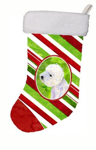 Multicolor Carolines Treasures LH9225-CS Westie Candy Cane Holiday Christmas Stocking 11 x 18