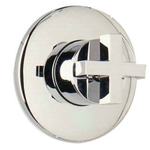Satin Rohl BA27L-STN//TO A4917Lhtcb Stn//To Modern Collection 4-Port 3-Way Diverter with Cross Handle Trim Only