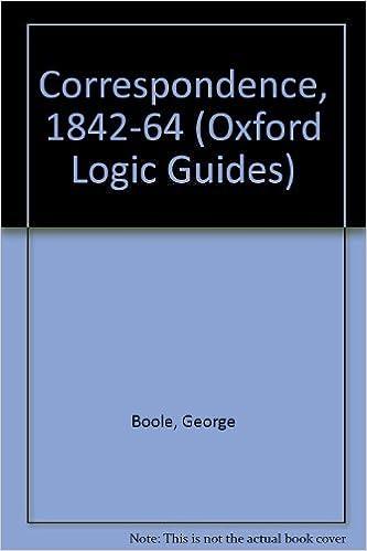 The Boole-De Morgan Correspondence, 1842-1864