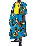 Tootless-Men Vogue Dashiki Africa Longline Batik Cotton Retro T-Shirts 11 4XL
