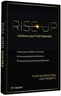 Rise Up, Natural Energy Supplement, 1-Pack 10 Capsules