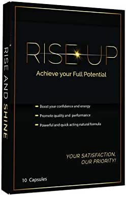 Rise Up, Natural Male Effective Amplifier for Strength, Energy, Performance and Endurance Pills, 10-Pack