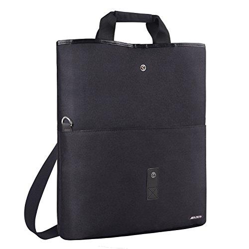 MOSISO Laptop Shouder Bag (up to 13.3 Inch), Compatible MacBook Ultrabook Notebook, Versatile Convertible Work Travel Shopping Duffel School Briefcase Handbag Crossbody Hiking Daypack, Black