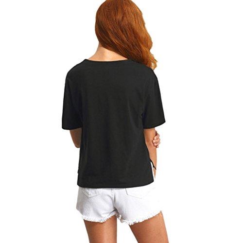 Culater® Lettera camicetta di modo donne della stampa manica corta T-shirt
