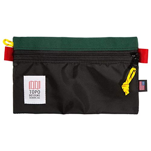 Topo Designs Accessory Bags - Black/Forest - Medium