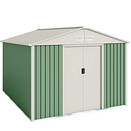 Wolder Brico Gälliv G01ME0011 - Caseta metálica de jardín para el almacenaje exterior con espacio de