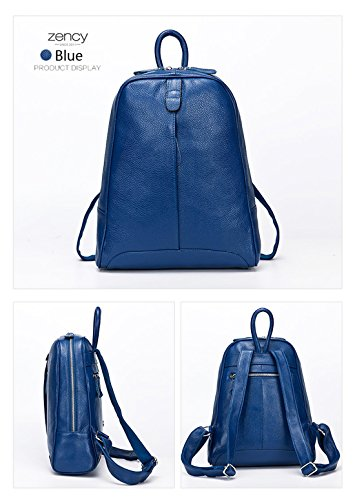 Notebook Bag White Girl's Knapsack Travel Pure Schoolbag 100 Style Backpack Casual Yellow Laptop Genuine Fashion Preppy Leather Women q1607Tq