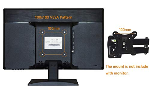 SVD 18.5-inch Ultrathin Professional Security Monitor, LCD Color Screen with VGA, BNC Input, HDMI, USB Video Inputs, for CCTV DVR Home Office Surveillance Security System, Black