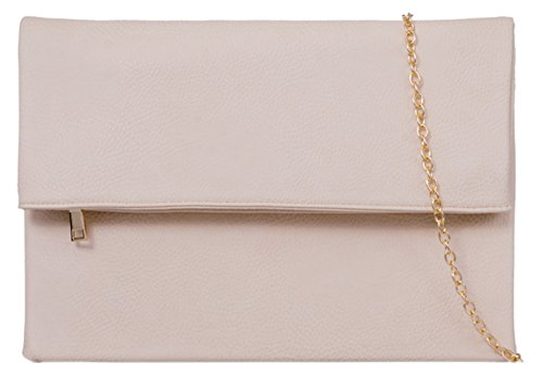 Bag HandBags Girly HandBags Envelope Clutch Beige Fold Girly Over 0xnzSZ