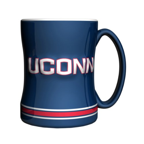 NCAA Connecticut Huskies Sculpted Relief Mug, 14-Ounce for sale  Delivered anywhere in USA