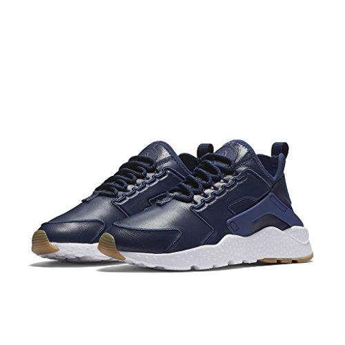 Nike Donna, Wmns Air Huarache Run Ultra Si, Pelle, Sneakers, Blu