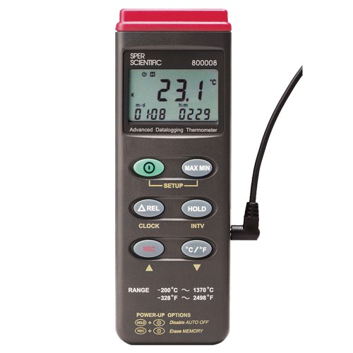 Sper Scientific 800008 Type K Thermocouple Thermometer with RS232 Output by Sper Scientific