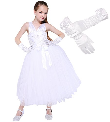 Girls 80's Star Tutu Dress Marilyn Monroe Costumes Medium White