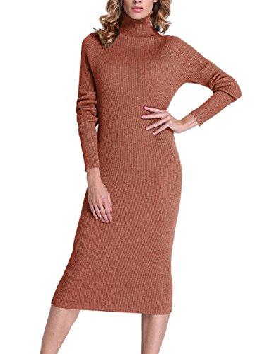 Roco Roca Women S Turtleneck Ribbed Elbow Long Sleeve Knit