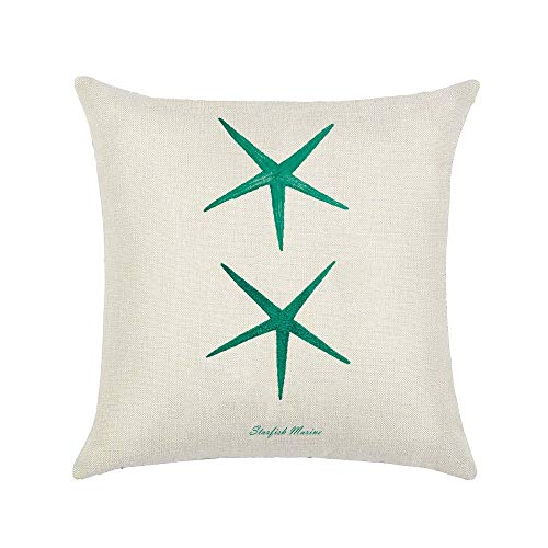 Qingell Throw Pillow Cover Case for Couch Sofa Home Decoration Vintage Style Applique Embroidered 18X18 Inches ()