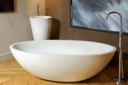 Terrazzo Waschbecken BadezimmerExklusiv Aufsatz-waschbecken TZS 015S 50x35x13 cm