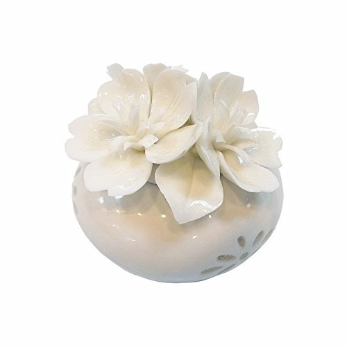 Porcelain Fragrance Diffuser Bottle Flowers With Patterned Vase