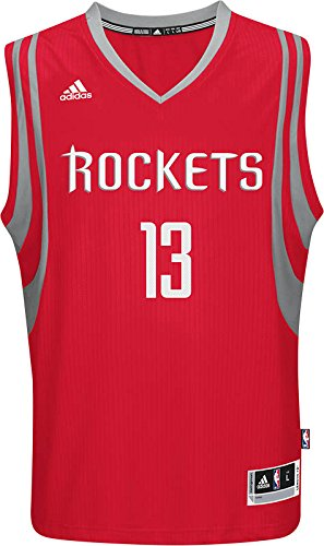 Adidas NBA Men's #13 James Harden Houston Rockets Swingman Jersey Red Small by adidas