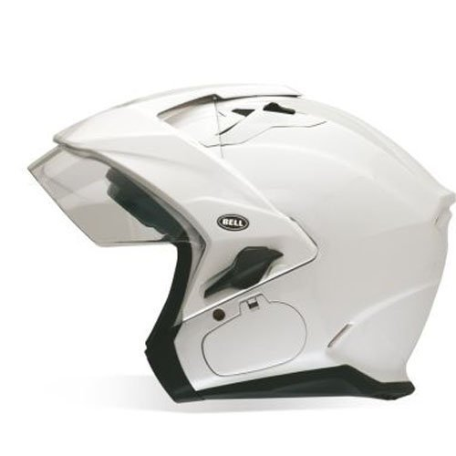 Bell Mag-9 Unisex-Adult Open face Street Helmet (Solid Pearl White, Medium) - Helmets Open Bell Face