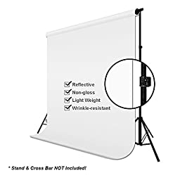 LimoStudio 6\' x 9\' Studio Green / Black / White Background Chroma key with 5x Holders