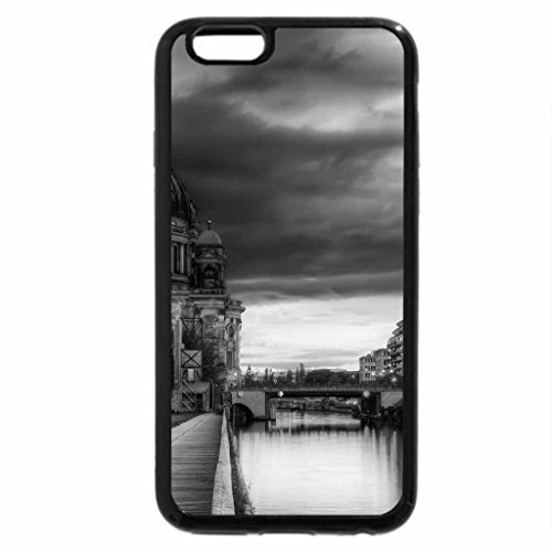 iPhone 6S Plus Case, iPhone 6 Plus Case (Black & White) - beautiful berlin cathedral by a river hdr