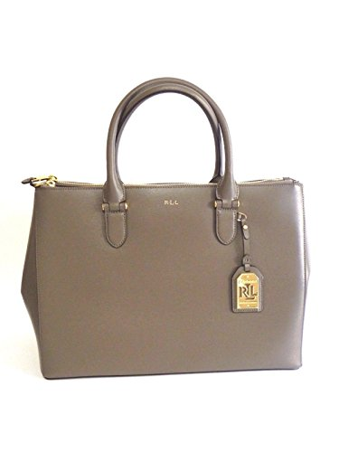 BORSA RALPH LAUREN DOUBLE ZIP SATCHEL FALCON