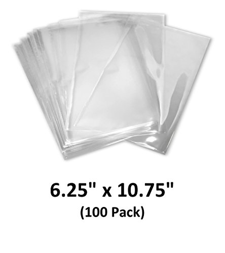 6.25x10.75 inch Odorless, Clear, 100 Guage, PVC Heat Shrink Wrap Bags for Gifts, Packagaing, Homemade DIY Projects, Bath Bombs, Soaps, and Other Merchandise (100 Pack) | MagicWater Supply