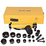 10 ton Hydraulic Metal Hole Punch Hole-driver Kit Tool Set