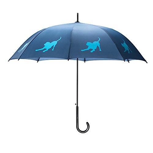 Lab Umbrella - The San Francisco Umbrella Company Labrador Retriever Stick, Navy Royal Blue