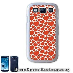 Red Mini Hearts Love Monogram Pattern Samsung Galaxy S3 i9300 Case Cover Skin White hjbrhga1544