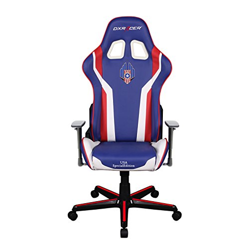 Dxracer DOH/FH186/IWR/USA3 Newedge Edition Black Red White USA Special Editions Ergonomic Office Chair Esport WCG IEM ESL Dreamhack Dxracer Gaming Seat Racing Chair With Pillows