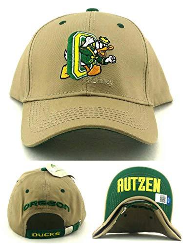 Donegal Bay Oregon Ducks New Vault Puddles Tan Khaki Beige Green Adj Strapback Era Hat Cap