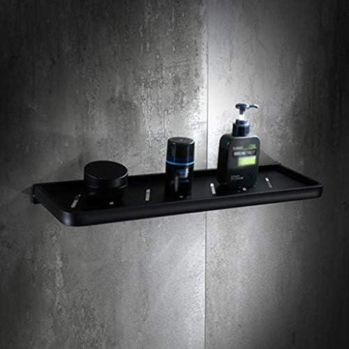 収納ラック棚 棚浴室シングル化粧品ラック防錆とアンチフェードブラックスペースアルミ 家のホテルの装飾のため