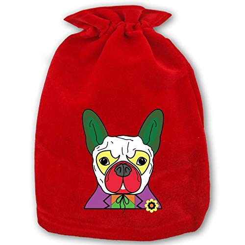 Large Christmas Candy Bags Gift Treat Bags for Favors and Decorations Colorful Joker Pug