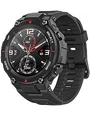 """Smartwatch Amazfit T-Rex Padrão Militar, Bluetooth 5.0, Tela Amoled 360x360 1,3"""", 5ATM, Gps, 14 Modos de Esportes (Preto)"""