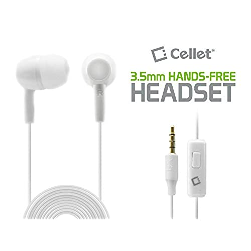 70OFF LG Phoenix 3 Hands Free Stereo Headset Earbud Two Pack Bundle White