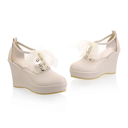 High 39 Size Style up Color Lace Sole Platform Thick Shoes beige Plus Thin Candy Preppy 6aqXq