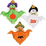 Ghost Hanging Halloween Decoration for Party Haunted Home Yard Indoor Outdoor Decoration - Pack of 3
