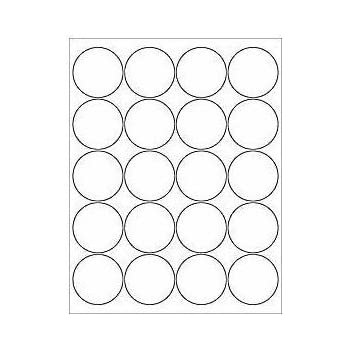 avery round labels glossy clear 2 1 2 diameter laser inkjet