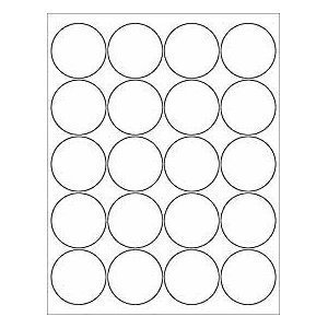 graphic relating to Round Printable Labels known as (12 SHEETS) 240 2\