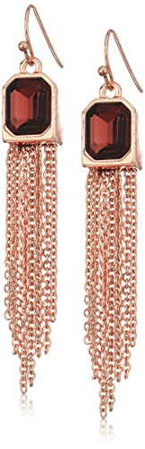 Chain Fringe Earrings - T Tahari RSG AMY FH W Chain Fringe Drop Earrings