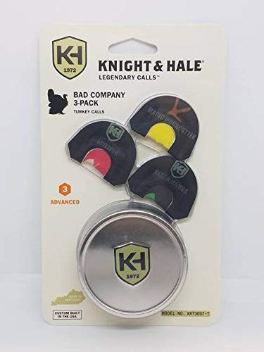 Knight & Hale KHT3007-T Bad Company 3 Pack Turkey Mouth Call
