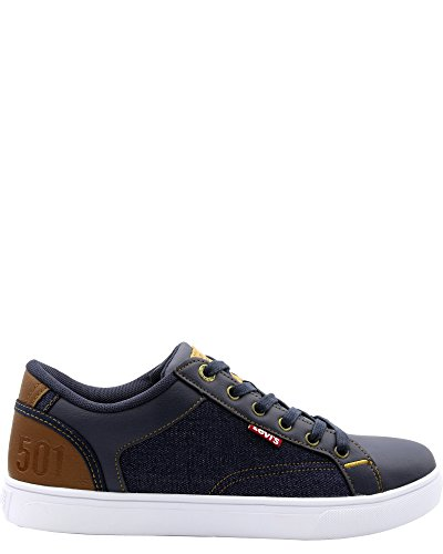 Levis Heren Jeffrey 501 Denim Sneaker Marine / Denim
