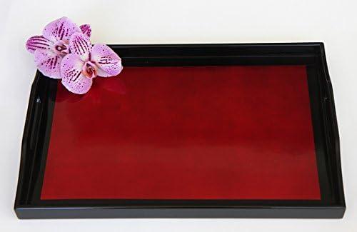 Rojo lacado bandeja - 10