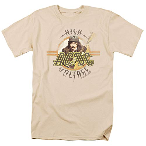 ACDC High Voltage Rock Album T Shirt & Exclusive Stickers (XX-Large) Cream